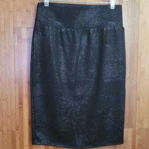 Apt. 9 Black metalic skirt Medium